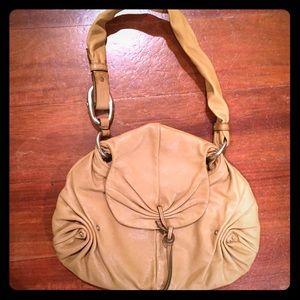 Authentic Yves Saint Lauren Tan Leather Bag